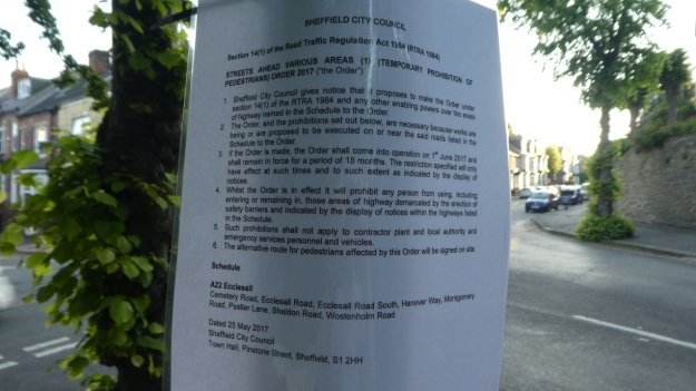 Sheldon Rd Notice 1 June 2017.JPG